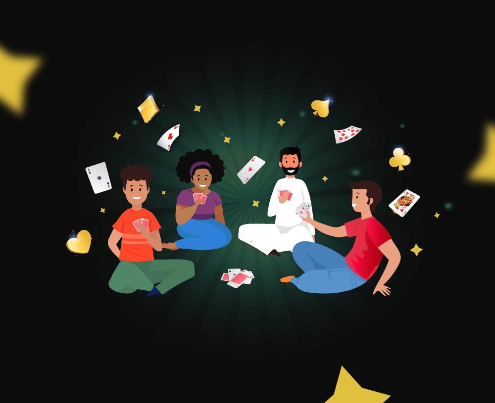 أشهر ألعاب الورق العربية المخصصة لأربعة لاعبين